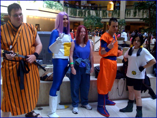 DBZ Cosplayers at Anime Weekend Atlanta 2008